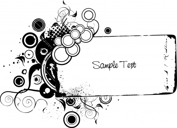 text box template black white retro grunge sketch