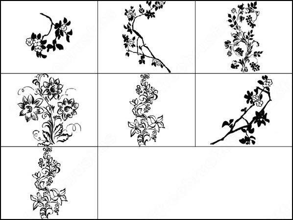 floral brush