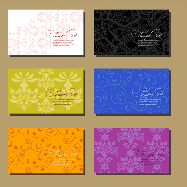 Floral business card templates collection free vector in adobe floral business card templates collection wajeb Images