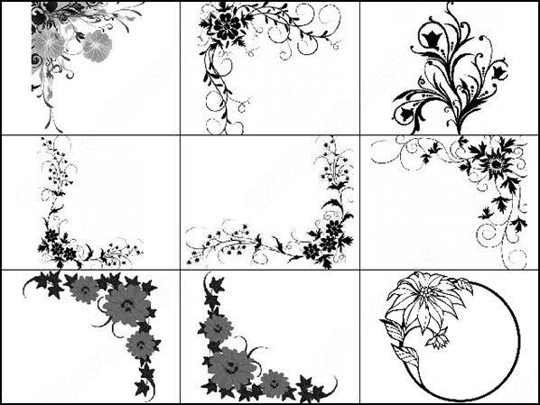 floral decorative brush