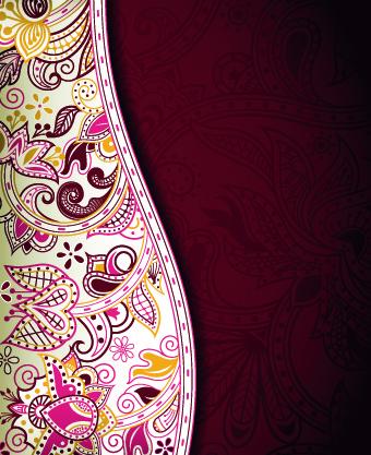 floral decorative pattern background