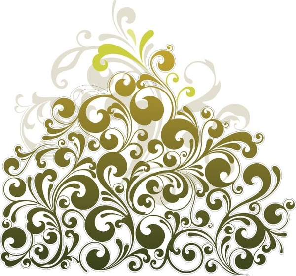 Floral Design Element Vector Art