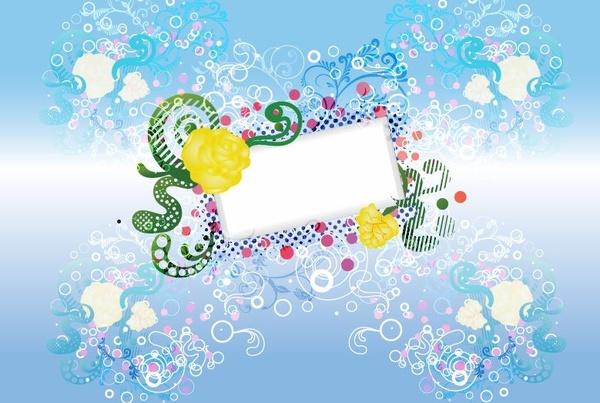 Floral Design Vector Background