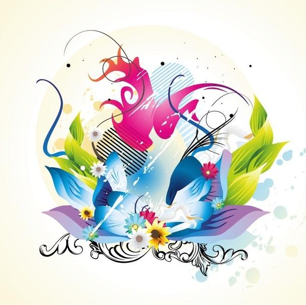 Floral Design Vector Graphic