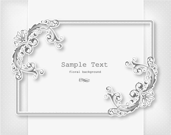 floral frames vector backgrounds set