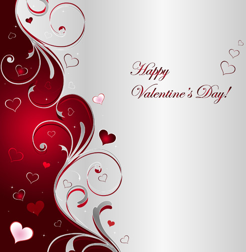 Floral Hearts Valentine Day Vector Backgrounds Free Vector In