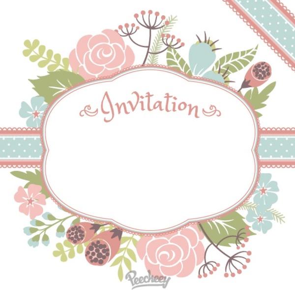 floral invitation free vector in adobe illustrator ai ai vector