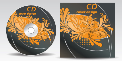 floral of cd cover design elements