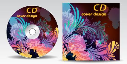 floral of cd cover design elements