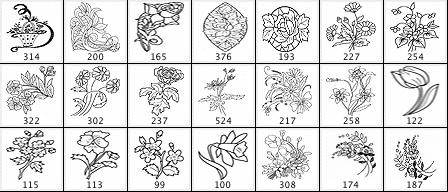 Floral Ornament Set 2