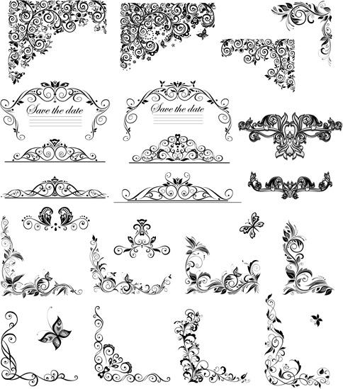 8e4e8d18e9c Floral ornaments border and corner vector Free vector in Adobe ...