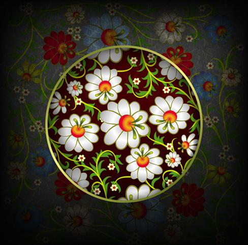 floral ornaments vector backgrounds