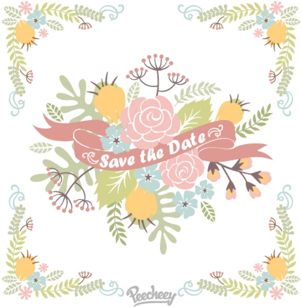 floral save the date illustration free vector in adobe illustrator