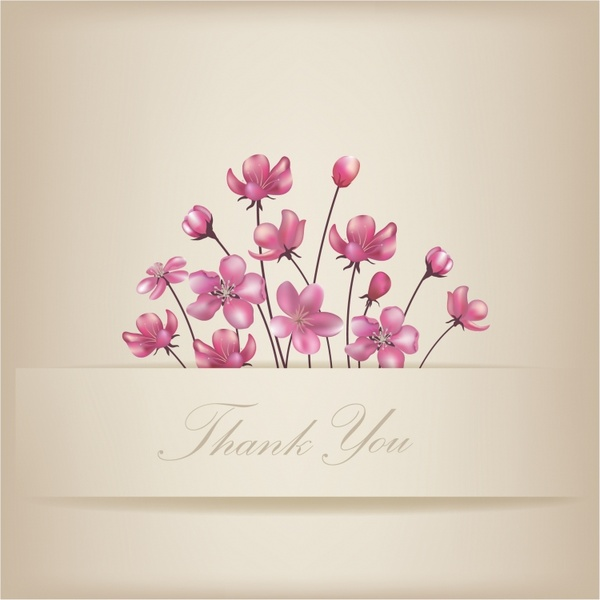 floral thank you card free vector in adobe illustrator ai ai
