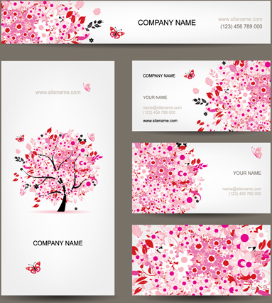 Floral tree business card design vector free vector in encapsulated floral tree business card design vector colourmoves