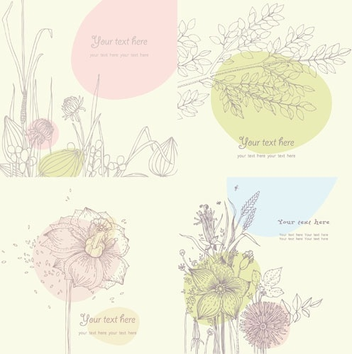floral vector line drawing