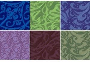 Floral velvet pattern set