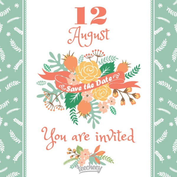 Floral Wedding Invitation Design Free Vector In Adobe Illustrator Ai