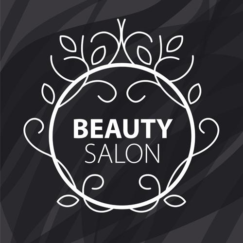 floral with beauty salon logos vector