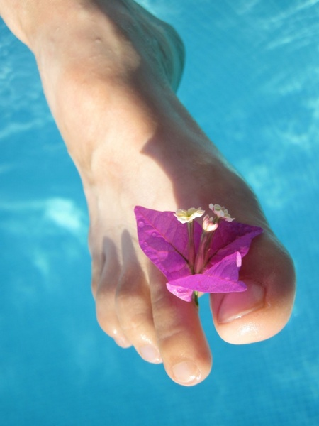 flower and toes