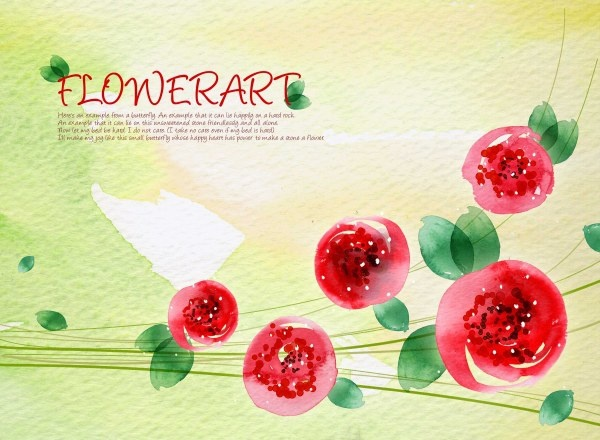 flower art watercolor pattern background psd layered 2