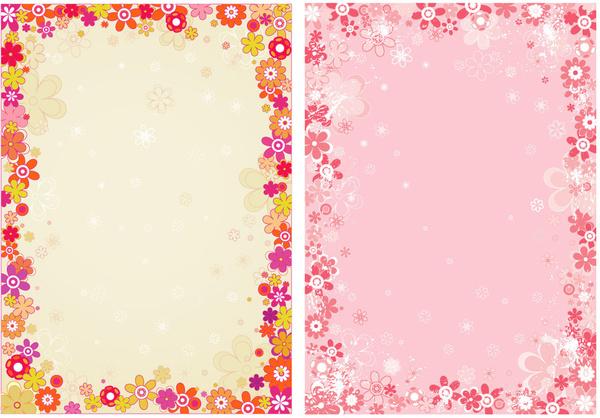 Flower border vector free vector in adobe illustrator ai flower border vector mightylinksfo