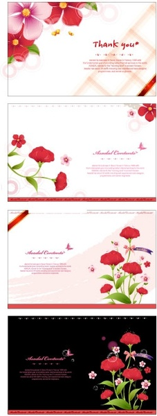 Blank greeting card template free vector download (31,196 ...