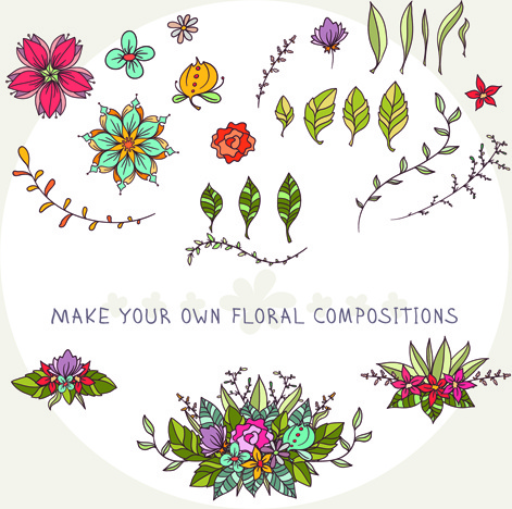 flower decor illustration vector