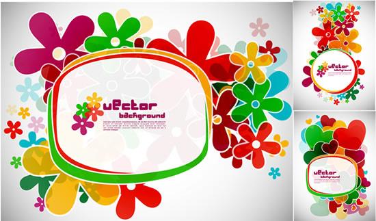 flower frames vector