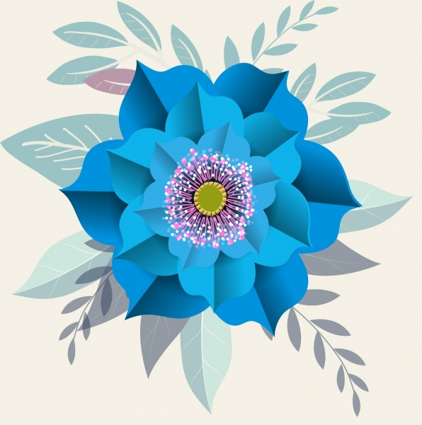 Flower Painting Multicolored Ornament 3d Design Free Vector In Adobe