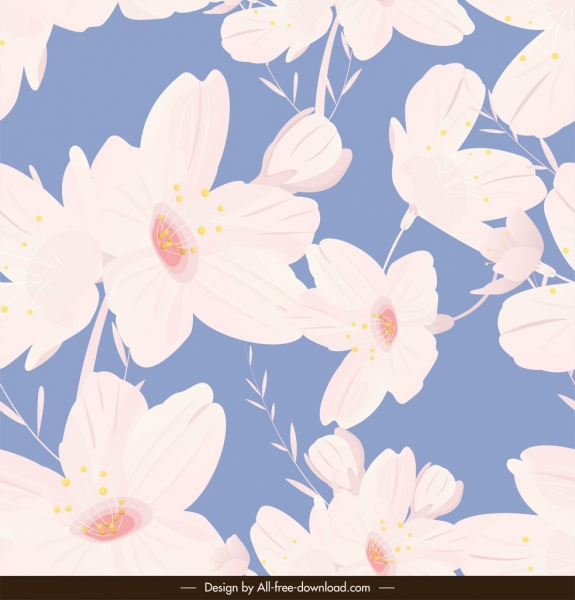 flower pattern classical white petals decor