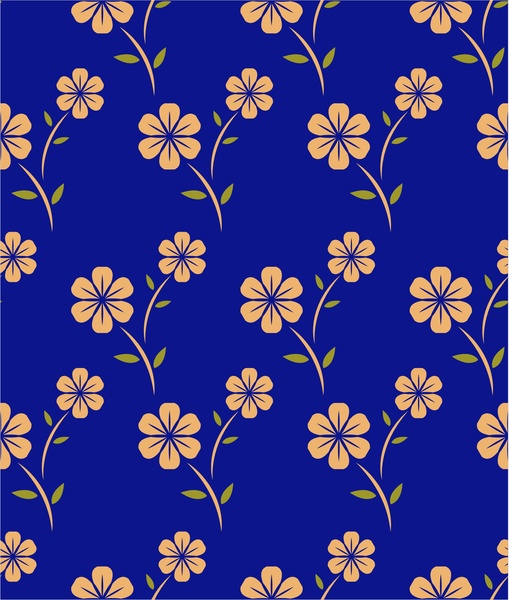 flower pattern design with repeating style