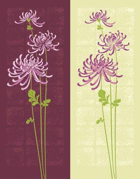 flower pattern templates dark bright sketch