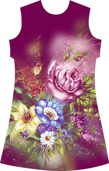 flower textile graphics