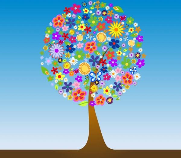 Flower Tree Vector