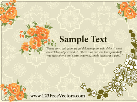 Flower Wedding Invitation Card Free Vector In Encapsulated