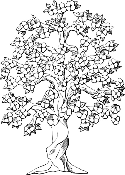 Flowering Tree Clip Art Free Vector In Open Office Drawing Svg
