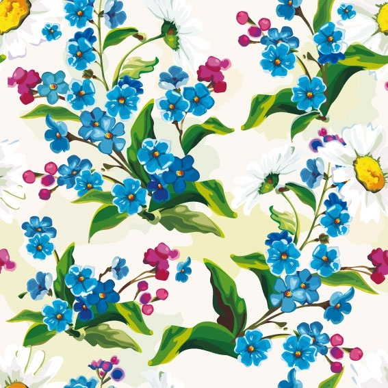 flowers background 01 vector