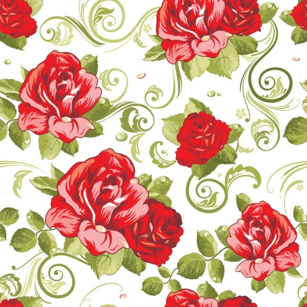 flowers background 02 vector