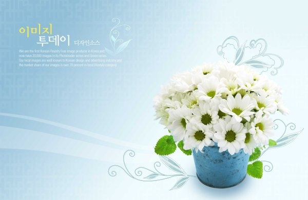flowers background psd layered 10