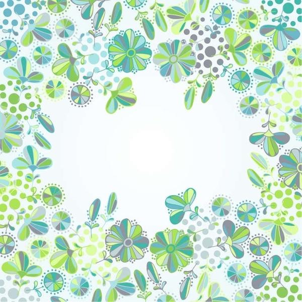 Flowers Frame Vector