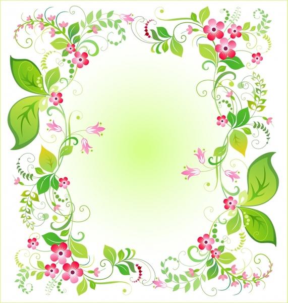 nature background colorful botany leaves frame decor