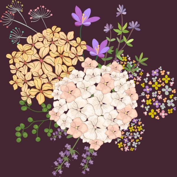 flowers painting dark colorful decor