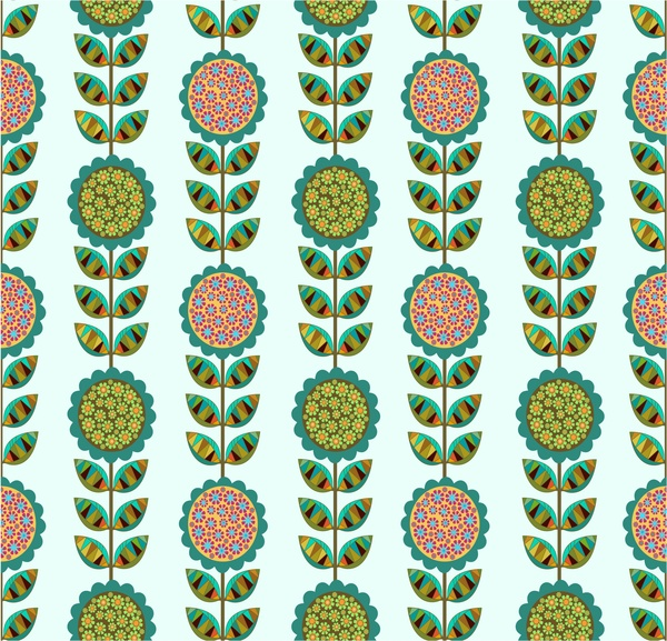 flowers pattern in seamless decoration design