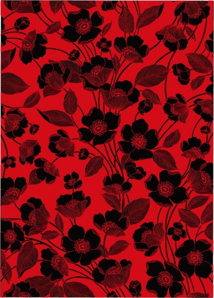 flowers red and black background vector lines free vector in adobe illustrator ai ai vector. Black Bedroom Furniture Sets. Home Design Ideas