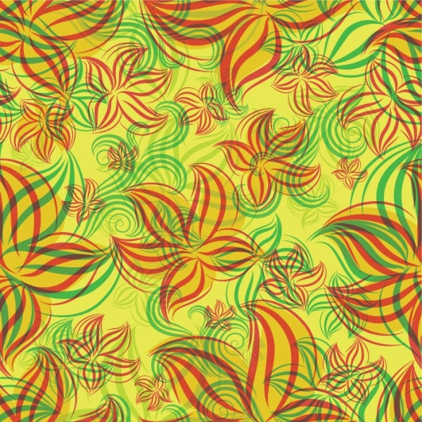 flowers shading patterns 05 vector