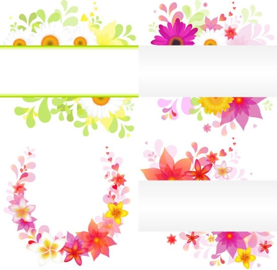 floral background templates bright colorful petals decor