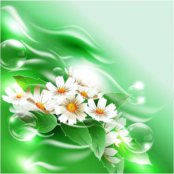 nature background flowers bubbles decor bright modern closeup
