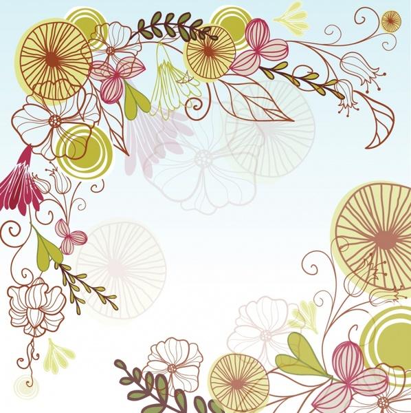 flowery corner free vector in adobe illustrator ai ai