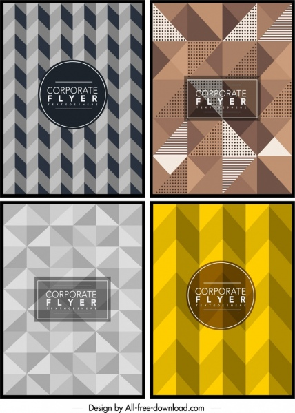 flyer cover templates abstract geometric polygonal decor